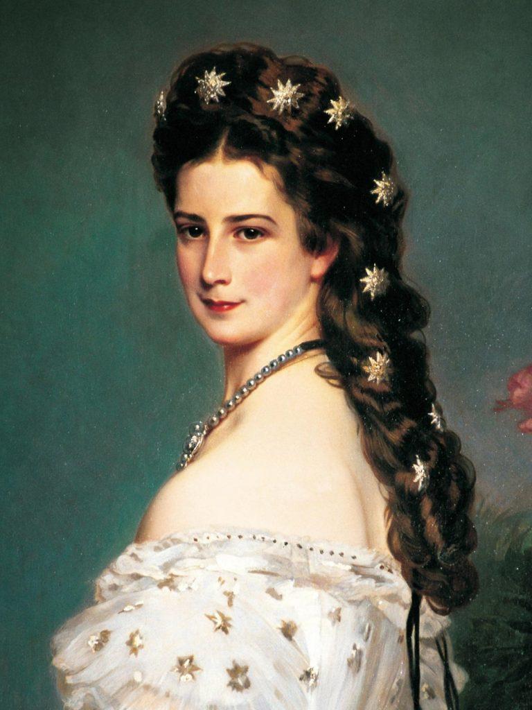 Portret austriackiej cesarzowej Elżbiety Bawarskiej, cesarzowej Sisi.