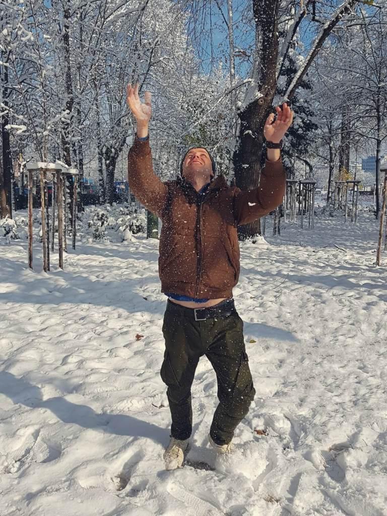 Zima w bułgarskiej stolicy Sofii.